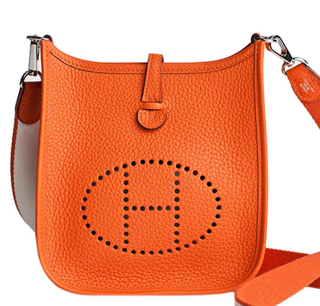 Hermès Evelyne Mini Bag TPM Classic Orange - Togo Leather  a2a5e2ff6a12