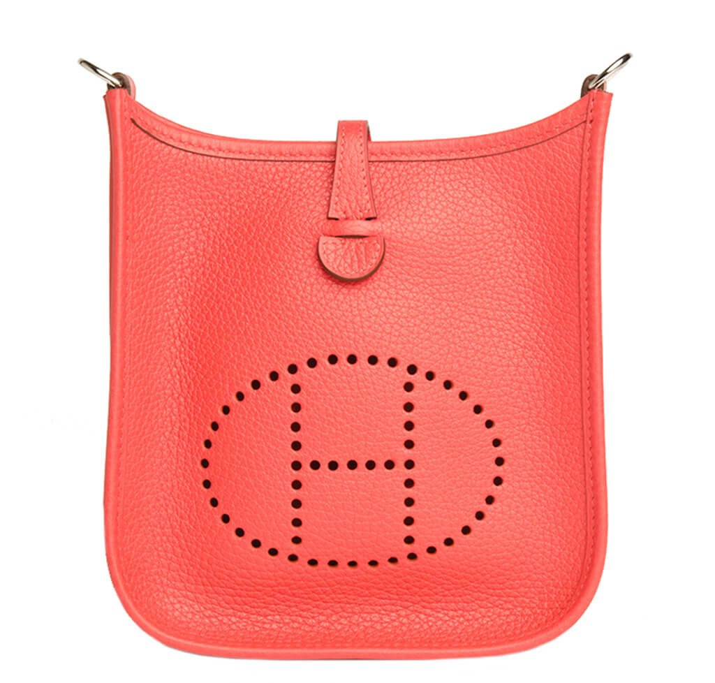 Hermès Evelyne Mini TPM Bag Rouge Pivoine - Palladium Hardware ... e4b469af582
