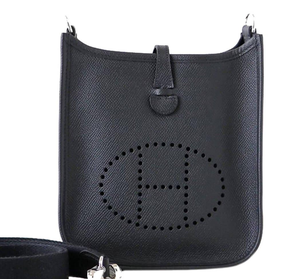3e2c7b0645a Hermès Evelyne TPM Bag Black - Epsom Leather Palladium Hardware ...