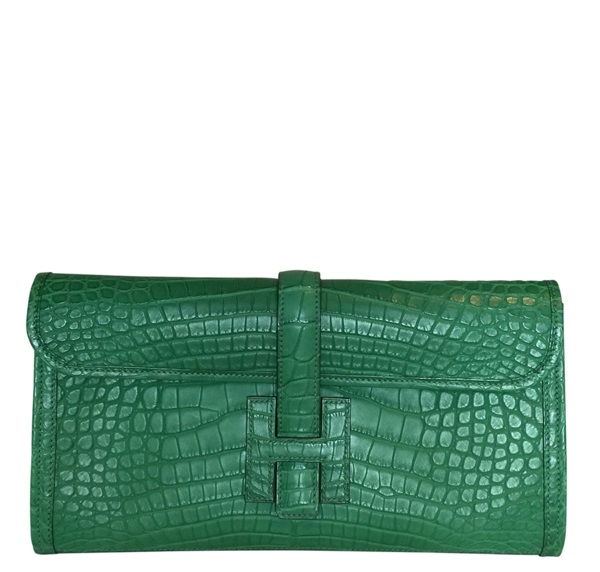 Hermès Jige Elan 29 Clutch Alligator Matte Bag