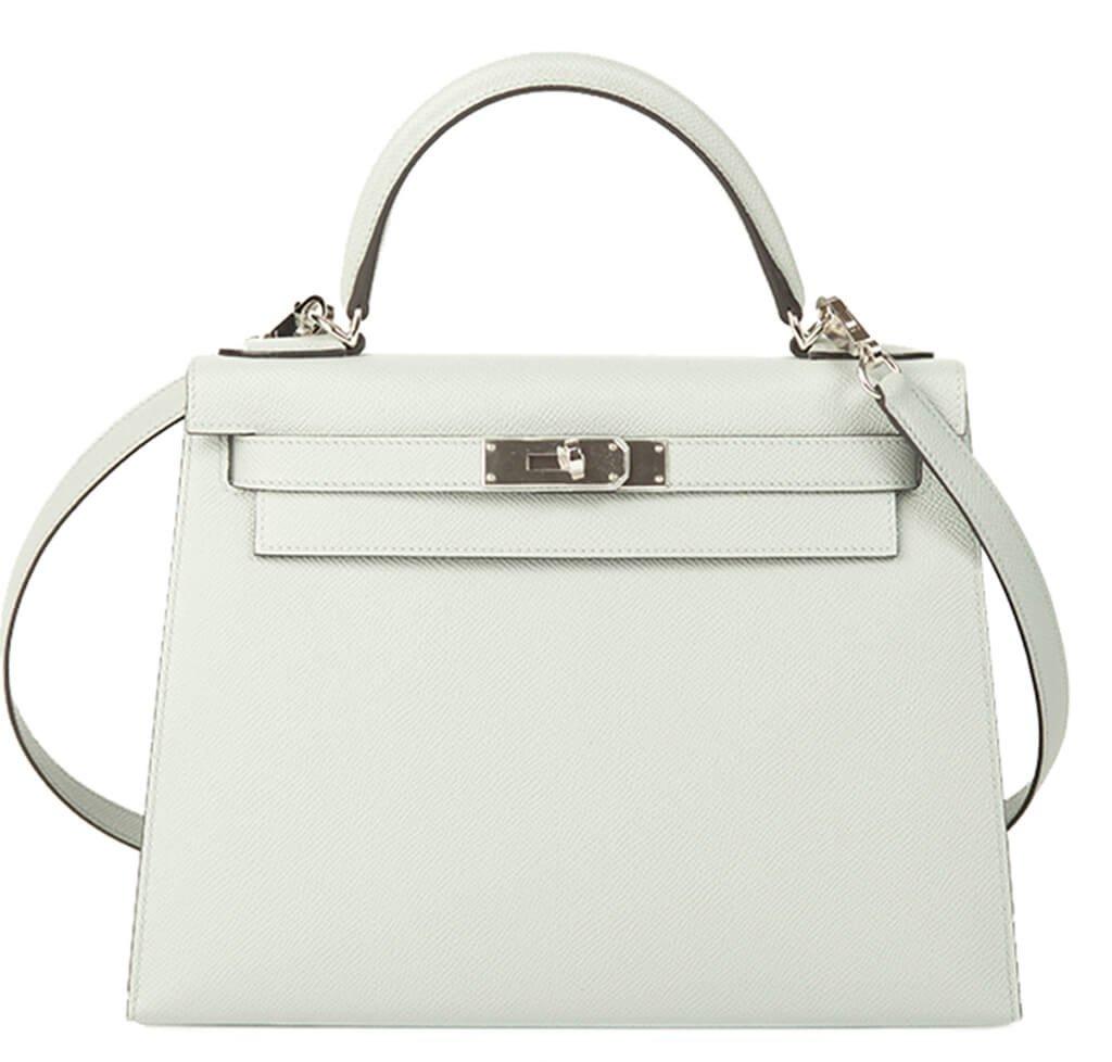 Hermès Kelly 28 Bag Bleu Glacier Epsom Leather - Palladium Hardware ... 140bf229b