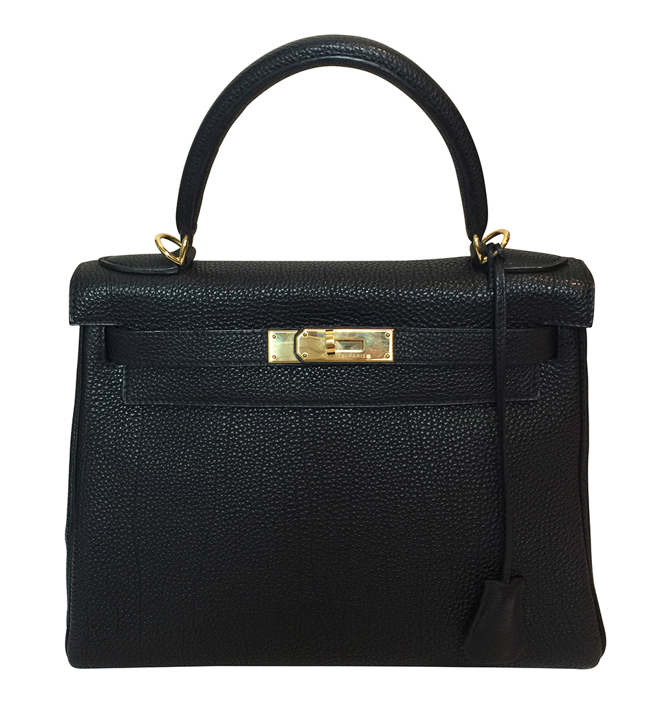 97a269594e34 Hermès Kelly 28 Black Togo Bag GHW