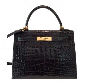 Hermès Kelly 28 Sellier Alligator Gold Hardware