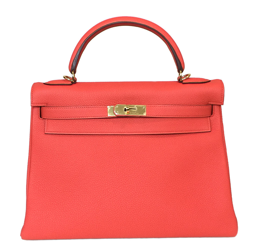 Hermès 32cm Kelly Capucine Bag GHW