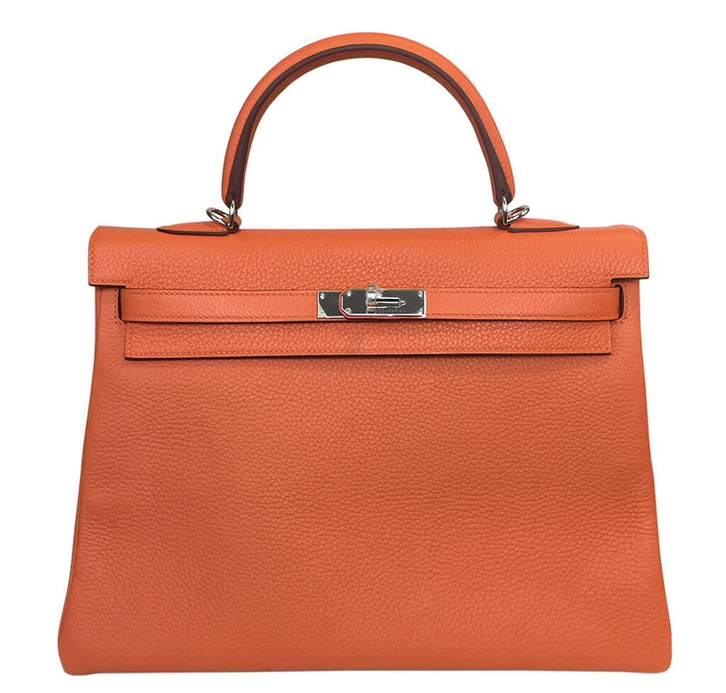 Hermès Orange Kelly Togo Bag 35cm