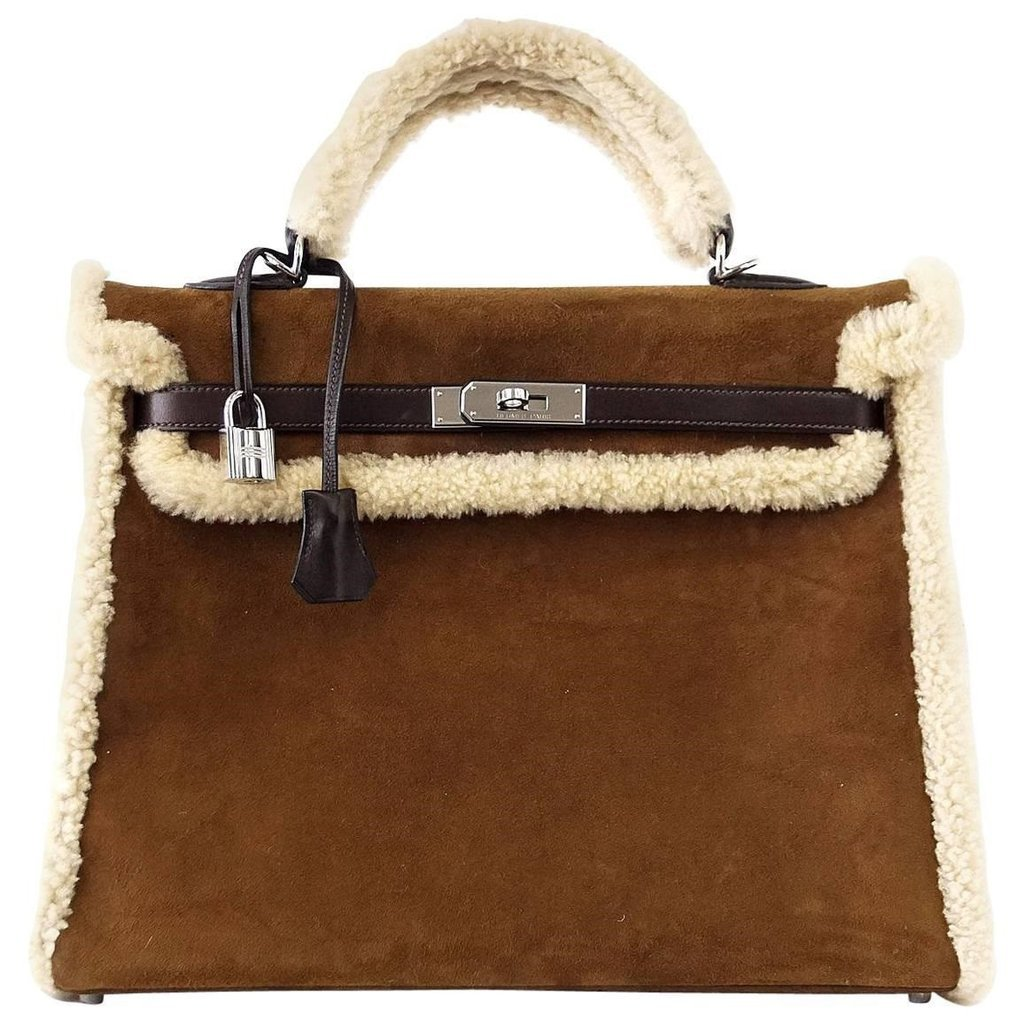 Hermès Kelly 35 Limited Edition Teddy Shearling Bag