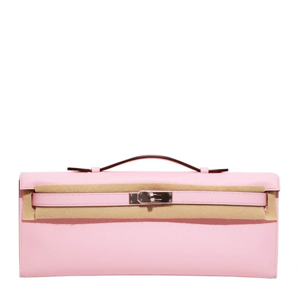 066c41ddce2 Hermès Kelly Cut Bag Rose Sakura Swift Leather - Palladium Hardware ...
