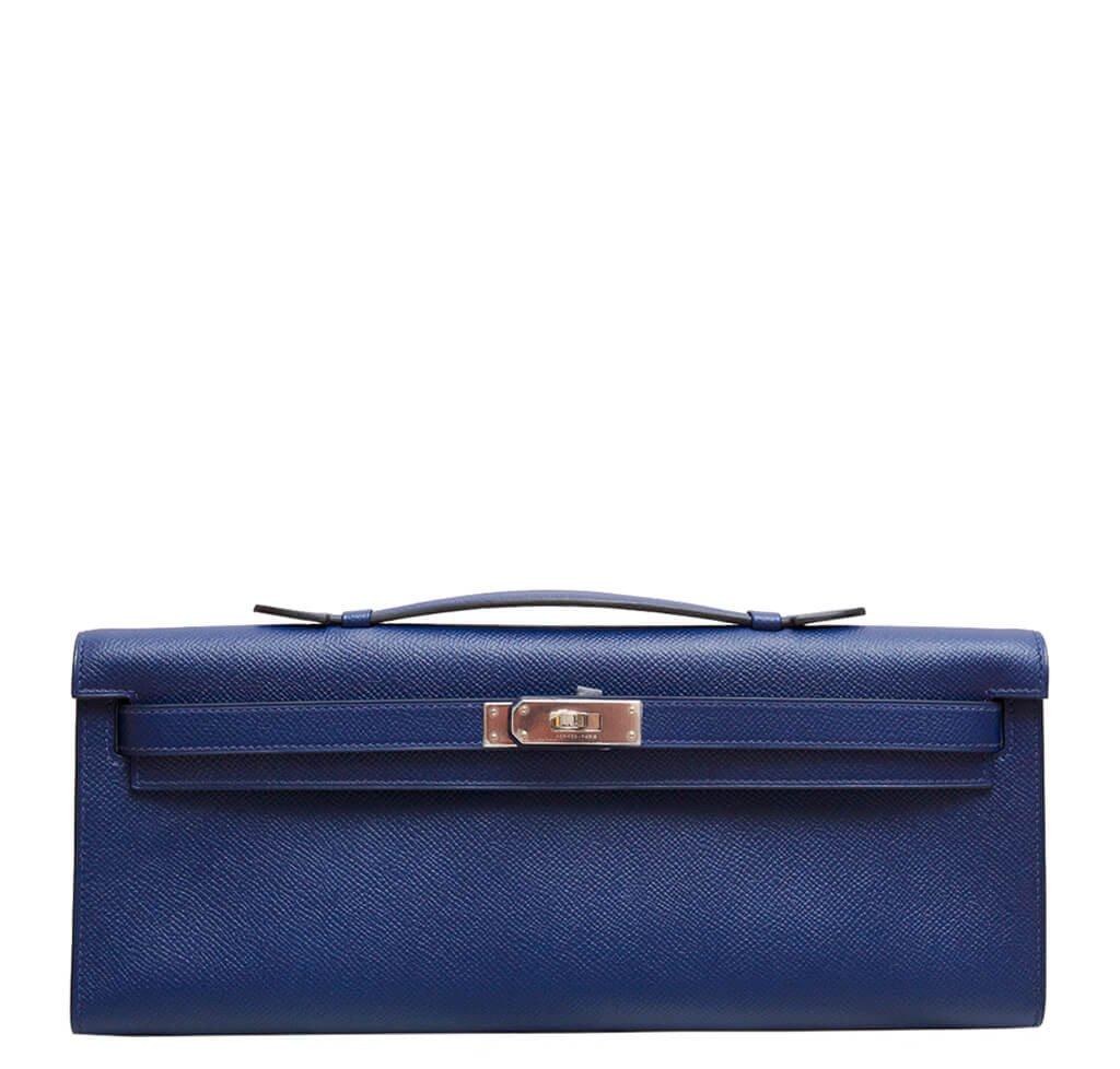46b53ea054 Hermès Kelly Cut Clutch Bag Blue Sapphire - Epsom Leather PHW ...