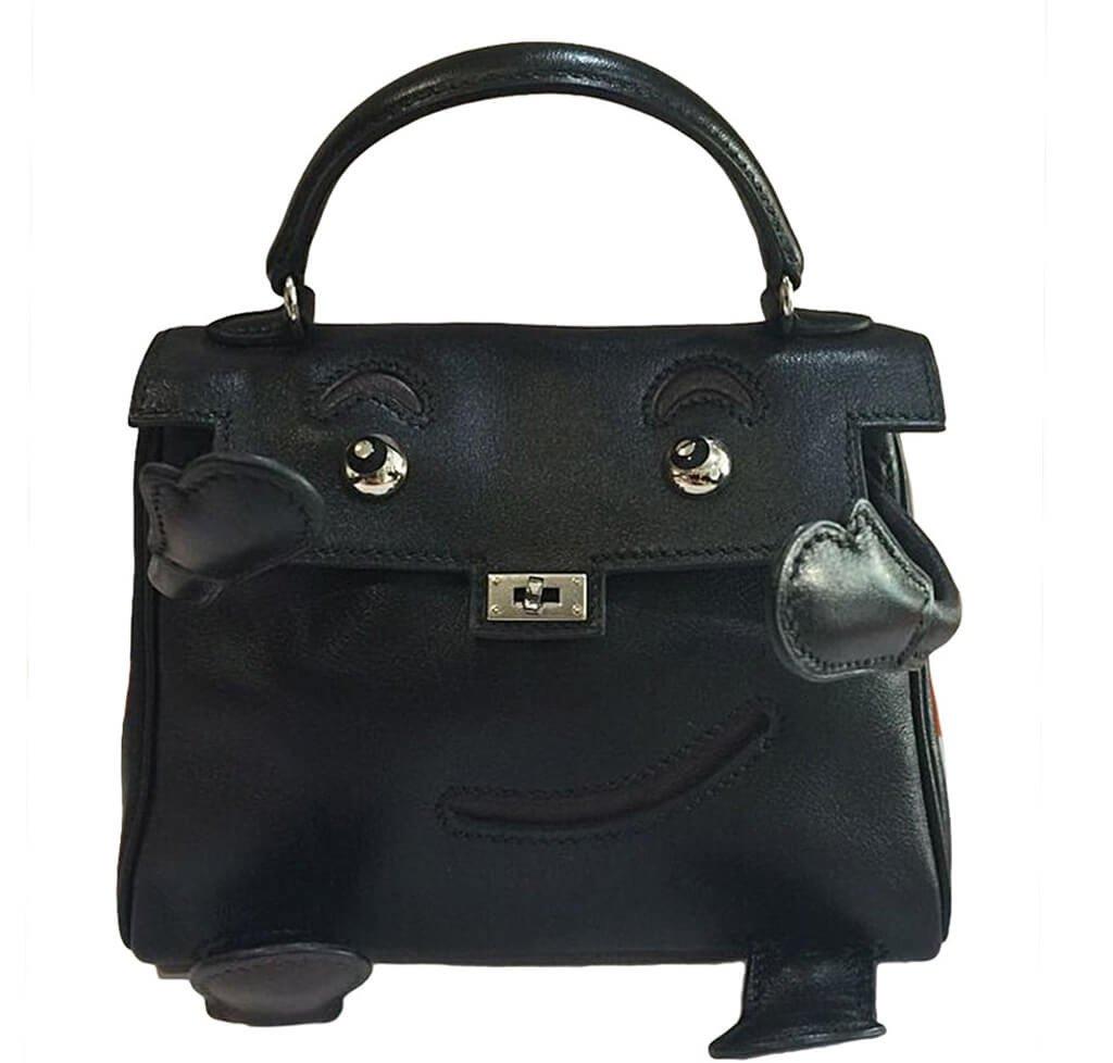 39e5c76db3f4 Hermès Kelly Idole Bag Black Gulliver Leather - Palladium Hardware ...