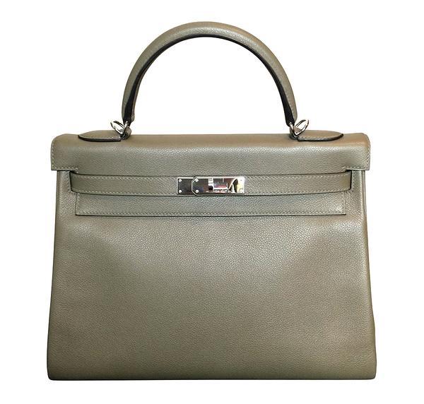 Hermès Kelly Retourne 32 Veau Evercolor Origan PHW Bag