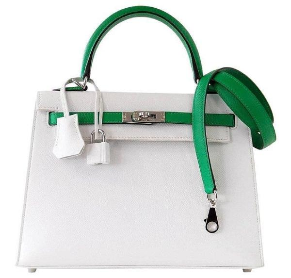 Hermès Kelly HSS 25 White Epsom PHW Bag