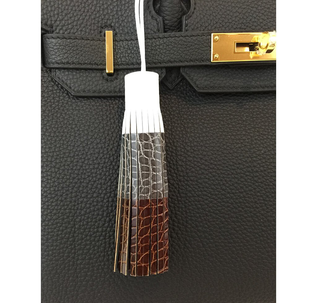 Crocodile Handmade Bag Tassel Limited Edition