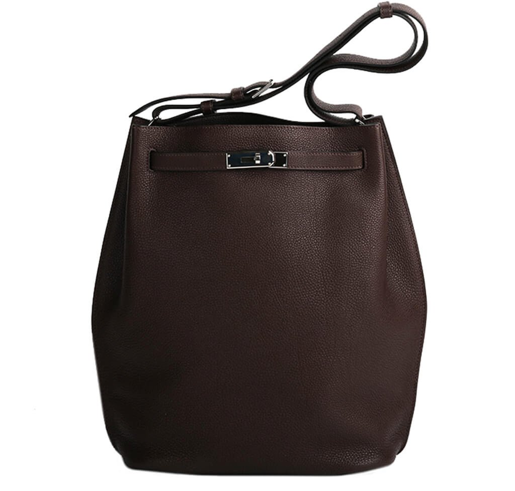 7d9ac09e5a98 Hermès So Kelly 26 Bag Chocolate Togo Leather - Palladium Hardware ...