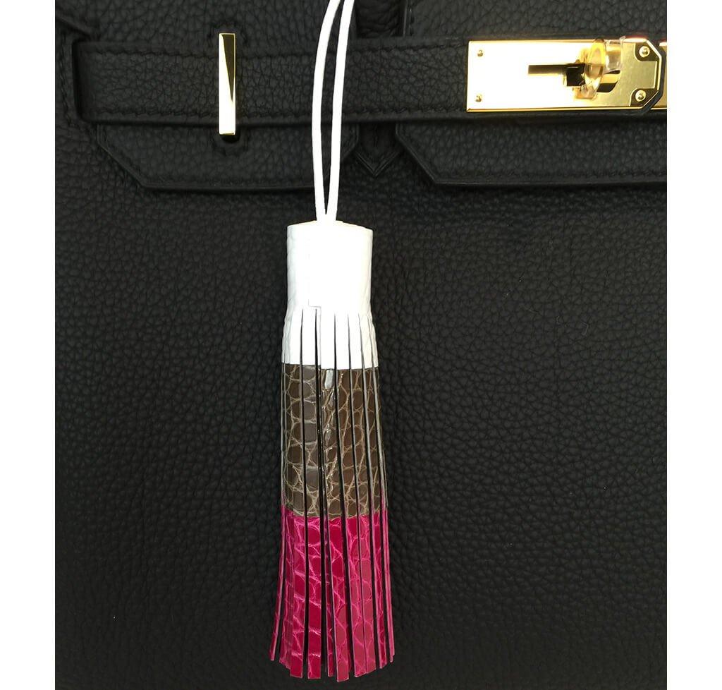 Tri-Color Bag Tassel Charm Limited Edition