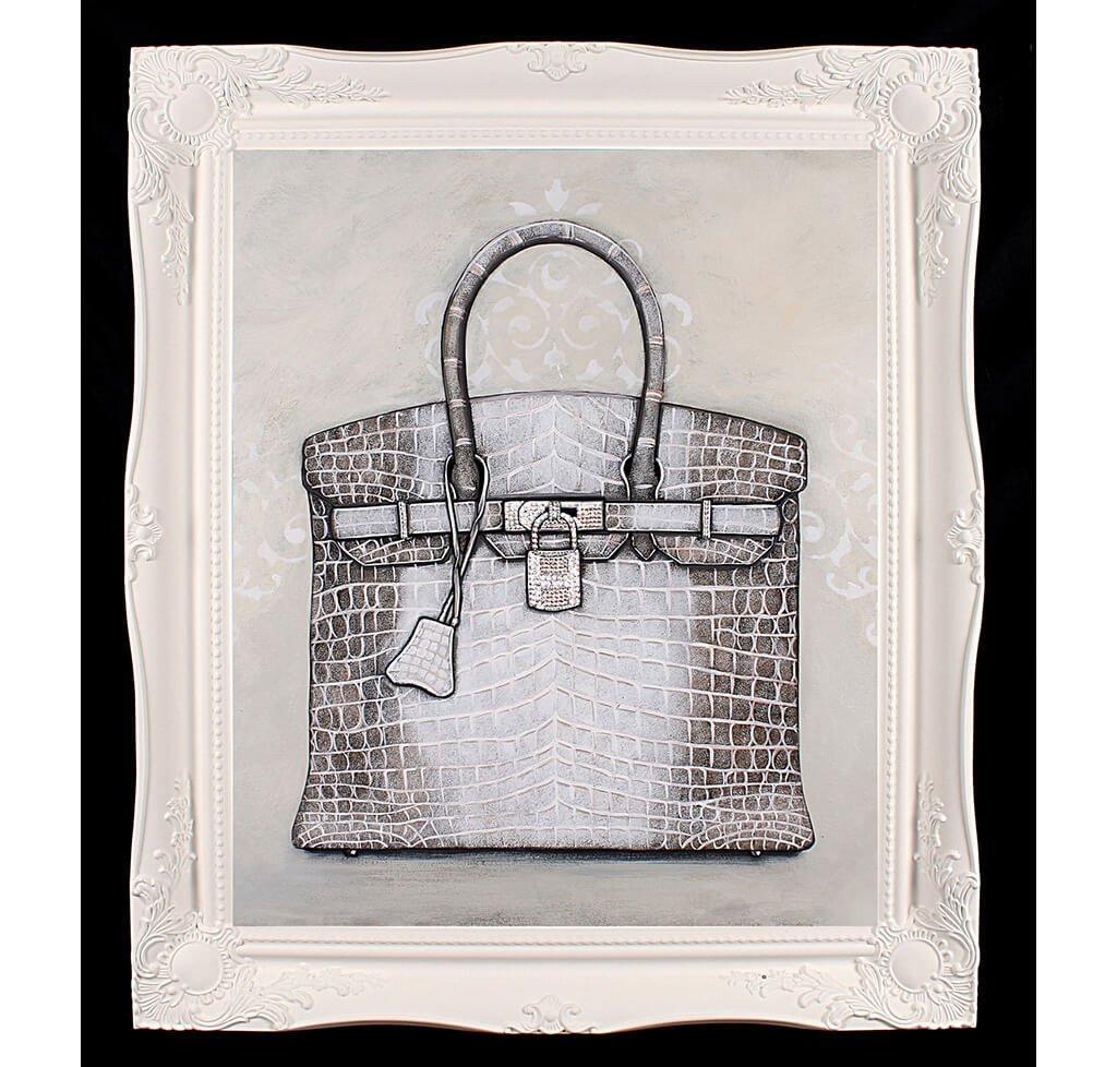 Large Limited Edition Himalayan Hermès Birkin Giclée