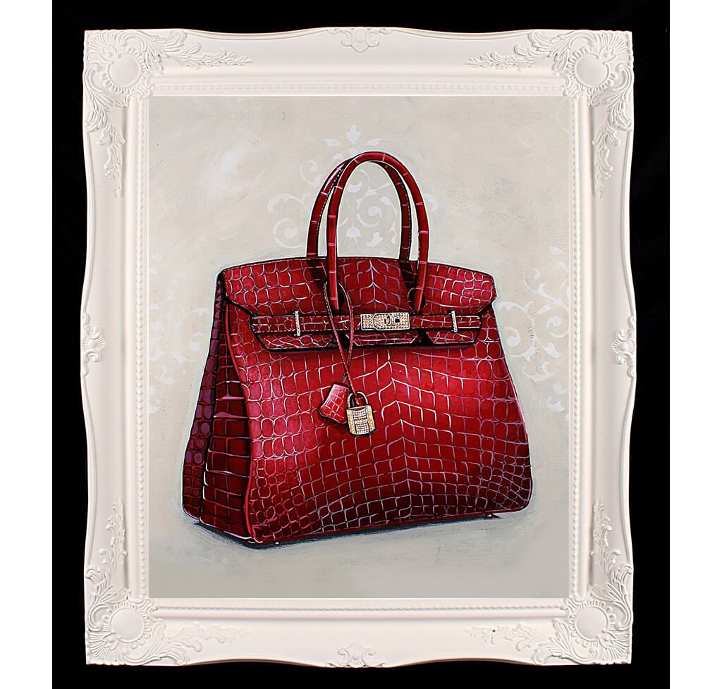 66e0351ec1 Large Limited Edition Rouge Hermès Birkin Giclée