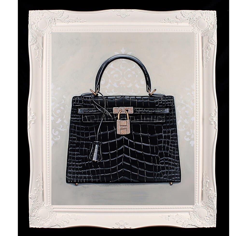 Large Limited Edition Timeless Hermès Kelly Giclée