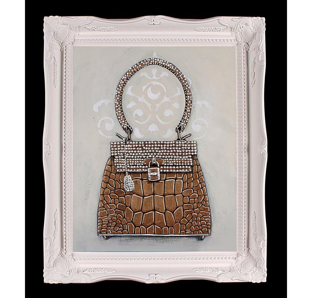 Limited Edition Hermès Kelly Sac-Bijou Giclée Painting