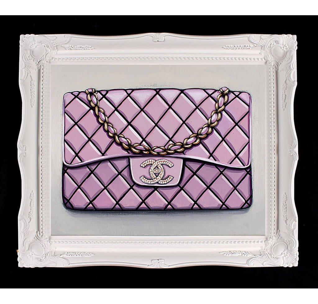 Medium Limited Edition Diamond Bebe Rose Chanel Giclée
