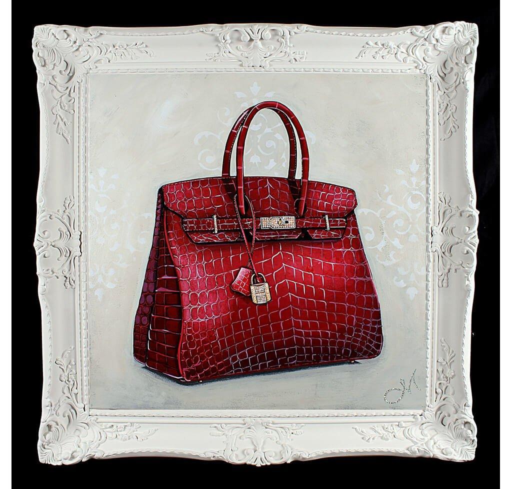 d275833926fd Original Rouge Hermès Birkin Painting