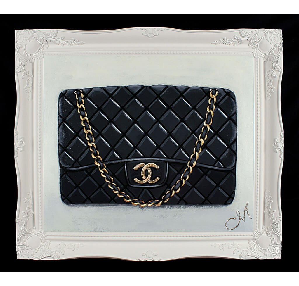 Original Timeless Black Chanel Painting
