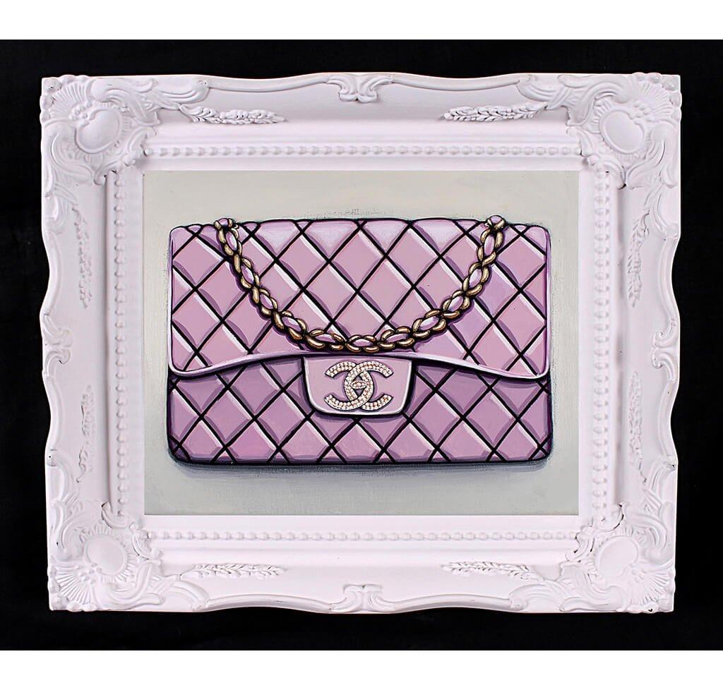 Small Limited Edition Diamond Bebe Rose Chanel Giclée