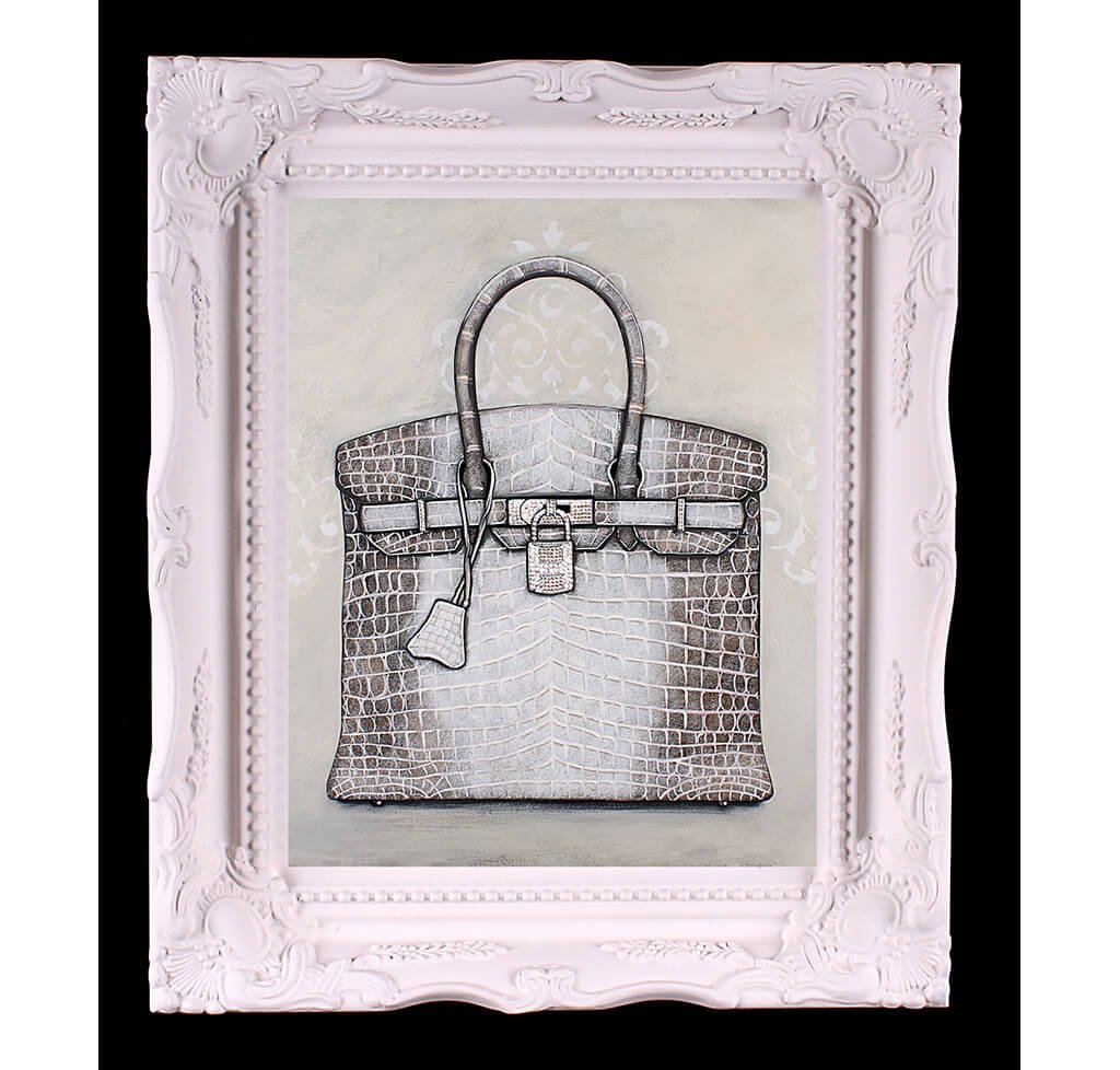 Small Limited Edition Himalayan Hermès Birkin Giclée